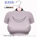 Gaia - Feline Crop Top GREY