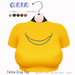 Gaia - Feline Crop Top SUNNY