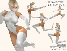 Aeon Fight Atack couple 06 super kick punch pose game martial bento animation pose poses static