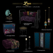 OUBLIETTE LUX FULL SET W/RARE PIPE DAYBED