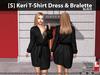 [S] Keri T-Shirt Dress & Bralette Black