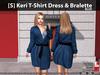 [S] Keri T-Shirt Dress & Bralette Blue