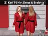 [S] Keri T-Shirt Dress & Bralette Red