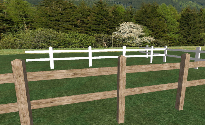 Sculpted Horse Fence