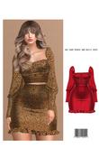 Naz. Cup Cropped Blouse/Frill Hem Skirt [RED] ::Kloss::