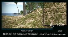 VITA'S 3D ground texture MOSSY SAND Seamless 1024 HD 2020