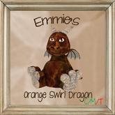 Orange Swirl Dragon
