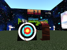 Magic Unlimited Archery set- bow, target and bow giver