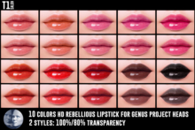TOP1SALON - HD REBELLIOUS LIPSTICK (Genus)