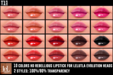 TOP1SALON - HD REBELLIOUS LIPSTICK (Lelutka Evolution)