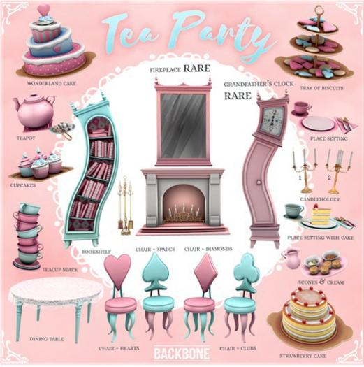 BackBone Tea Party - Chair - Spades