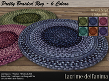 Pretty Braided Rug - 6 Colors