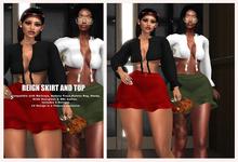 VALID:Reign Skirt Olive (BBL,Freya,HG,LARA,Ebody, Katena Reg)