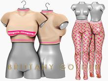 Brittany - Marine - Beige/Pink