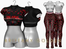 Brittany - Marine - Black/Red