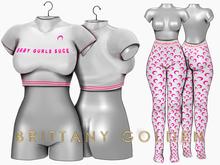 Brittany - Marine - White/Pink