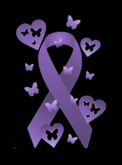 Relay for Life - Purple Ribbon with Butterflies T-Shirts