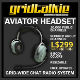 GridTalkie AVIATOR Radio Headset