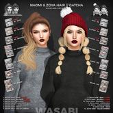 Wasabi // Naomi Mesh Hair - #3 Browns RARE
