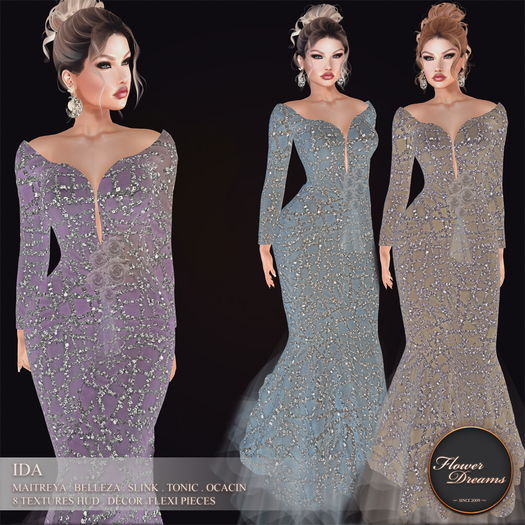 .:FlowerDreams:.Ida gown DEMO