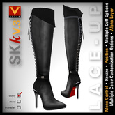 :: V Style SKk V.3 :: Black Knee High Leather Boots, Stiletto Boots, Knee Boots