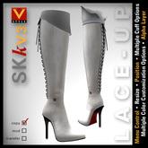 :: V Style SKk V.3 :: White Knee High Leather Boots, Stiletto Boots, Knee Boots