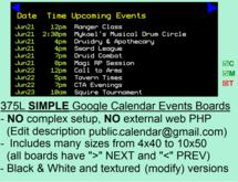 "Google Calendar™ ""gmail.com"" Events Board"