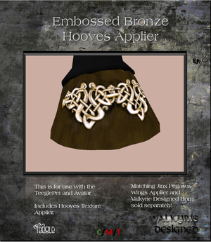 Valkyrie Designed - Hooves Bronze Embossed Applier Teeglepet and Avatars