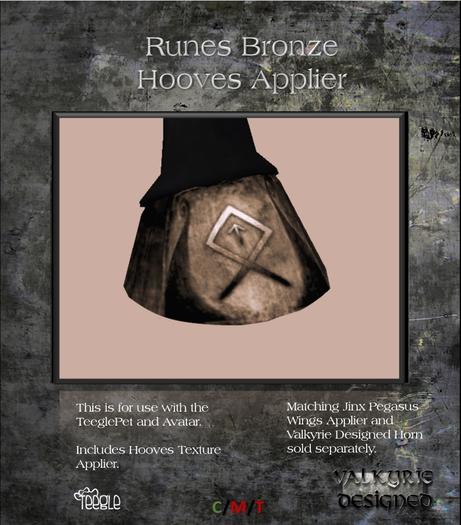 Valkyrie Designed - Hooves - Bronze Runes Applier - Teeglepet and Avatars