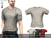 Full Perm Mesh Men's Rolled Up Sleeves Top (Signature Gianni, Belleza Jake, Slink Male, Legacy)