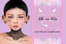 .little devil. - little rose tattoo