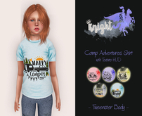 [KNIGHT DESIGNS] CAMP ADVENTURE SHIRT WITH TEXTURE HUD - TWEENSTER