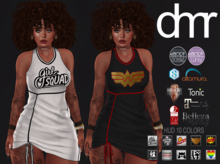 [DR] Mini Dress 140 HUD 10 COLORS ::MESH::