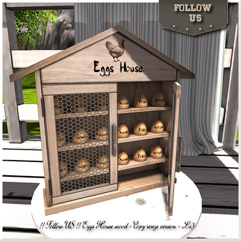 Easter price !! Follow US !! Egg House wood COPY & Resize version