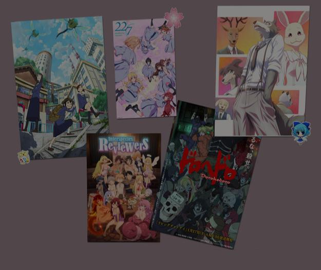 anime poster set 4