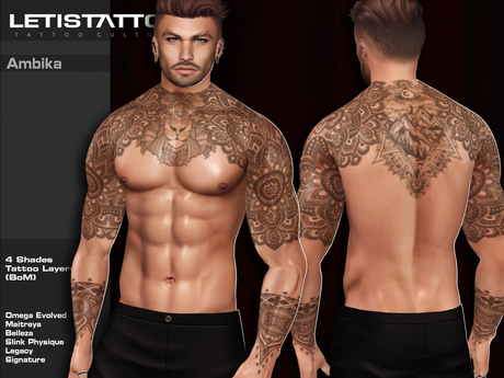 Letis Tattoo :: Ambika :: Tattoos Bakes On Mesh & Omega Legacy Signature and more Appliers