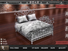 {::ROAR::}Full Perm Mesh Garip Great Vintage Wrought Iron Bed
