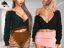 .::E.D.D.A::. Ninna Low Shoulder Sweater {FATPACK} • Slink • Belleza • Maitreya • Legacy •