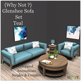 {Why Not ?} Glenshee Sofa Set Teal-Boxed