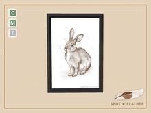Bunny Art Print ..::SPOT*FEATHER::.. _c2020 B.E.L.