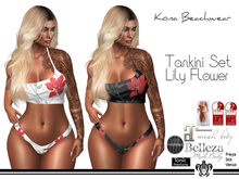 Kona Tankini Set Lily Flower