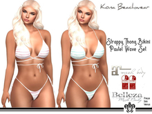 Kona Strappy Thong Bikini Pastel Set