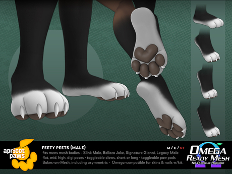 Apricot Paws: Feety Peets (Male)