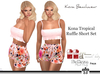 Kona Tropical Ruffle Short Set Pink