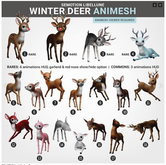 SEmotion Libellune Winter Deer Animesh #4 RARE