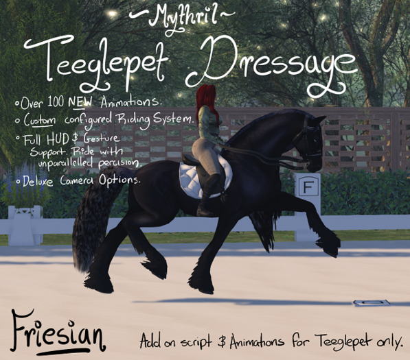 ~Mythril~ Teeglepet Dressage: Friesian