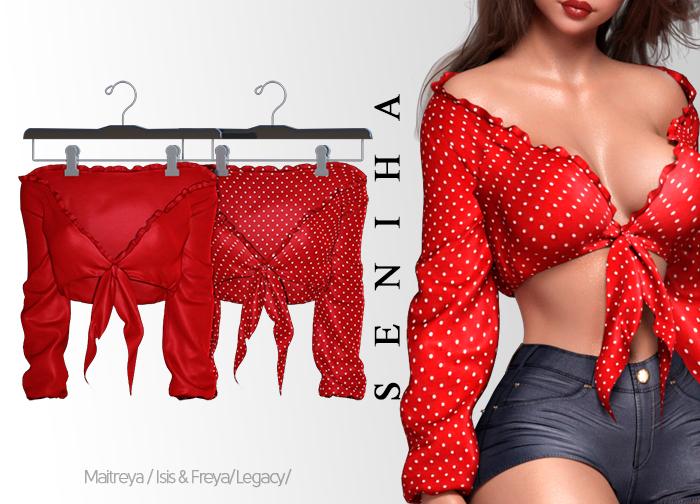 Seniha. Gaby Top // Red