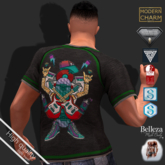 MCM - T-Shirt Guy CRAZY MUSIC (Aesthetic, Belleza, Exmachine, Signature Geralt Gianni, Slink, Meshbody Legacy Classic)