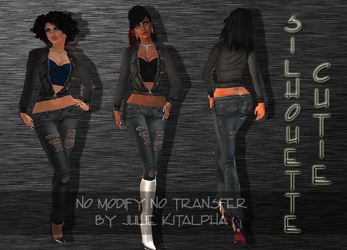XSTREET ONLY!!! + Silhouette + Cutie - Black