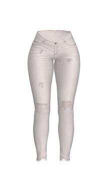 *Just BECAUSE* Cenedra Jeans - 1White - Maitreya, Belleza, Slink, Legacy